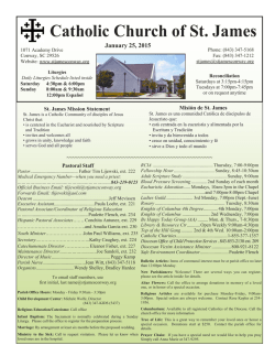 Current Bulletin - Catholic Church of St James