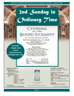 2nd Sunday in Ordinary Time - Cathedral of the Blessed Sacrament