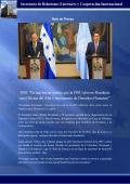 El Presidente Juan Orlando Hernández y el secretario general de la