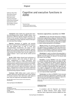 Cognitive and executive functions in ADHD