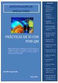 Prácticas de IO con POM-QM