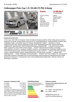 Volkswagen Polo Cup 1.0 l 55 kW (75 PS) 5-Gang