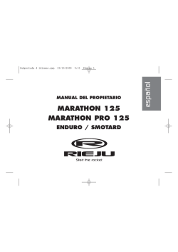 Owners Manual Marathon 125 (ESP-FRA-ENG-IT) V3