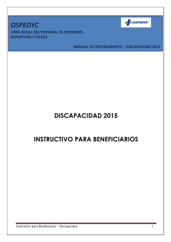 discapacidad 2015 instructivo para beneficiarios ospedyc
