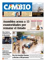 Asamblea acusa a 13 exautoridades por rematar el Estado