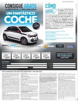 SORTEO TWINGO cartilla