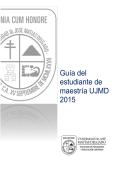 Guía del estudiante de maestría UJMD 2015