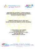 SUBASTA PÚBLICA No. 01 DEL 2015 NAVES ACUATICAS