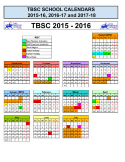 TBSC 2015 - 2016 - The British School Caracas