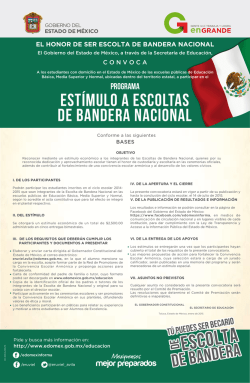 Escoltas convocatoria tablo - Gobierno del Estado de México