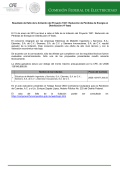 Resultado del fallo de la licitación del Proyecto 1921
