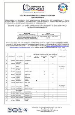 ACREDITACION DE REQUISITOS 14 ENERO DE 2015