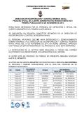 PRIMERA PUBLICACION PROCESO CADETE ADMINISTRATIVO