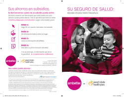 SU SEGURO DE SALUD: - Ambetter from Peach State Health Plan