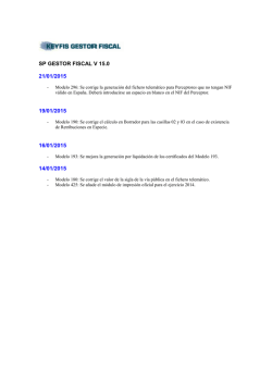 SP GESTOR FISCAL V 15.0 14/01/2015
