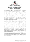 Reglamento Jurisdiccional del Tribunal Constitucional