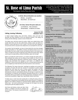 Bulletin - Saint Rose of Lima Parish