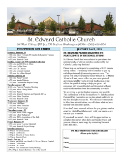 Bulletin 1-25-15 - St. Edward Catholic Church