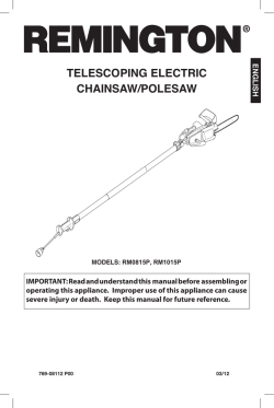 tELEScopING ELEctrIc cHaINSaw/poLESaw