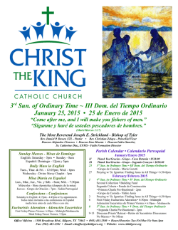 01.25.15 - Christ The King Catholic Church, Kilgore, TX