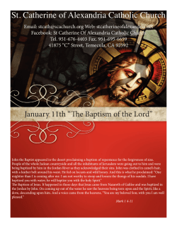 January 11th 2015 - St. Catherine of Alexandria Temecula