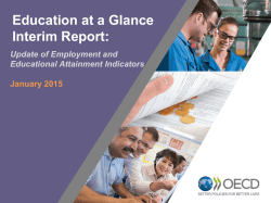 Presentación Education at a Glance Interim Report 2015