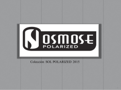 CATALOGO OSMOSE POLARIZED 2015