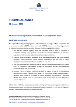 ECB announces operational modalities of the expanded asset