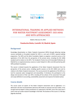 international training in applied methods for water