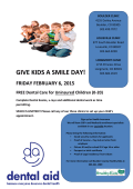 GIVE KIDS A SMILE DAY!