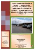 estudio de impacto ambiental ex-post y plan de manejo ambiental