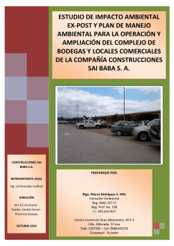 estudio de impacto ambiental ex-post y plan de manejo ambiental