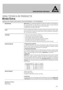 Binda® Extra - Sika Colombia