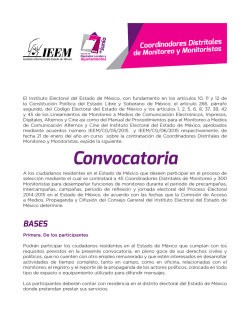 Convocatoria - Instituto Electoral del Estado de México