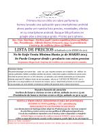 lista de precios - Silk Perfumes