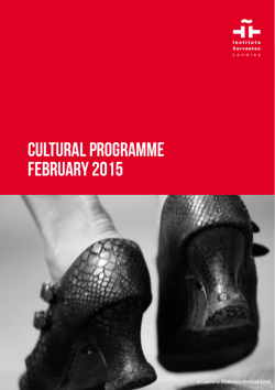 cultural programme FEBRuary 2015