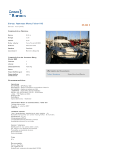 Barco: Jeanneau Merry Fisher 805