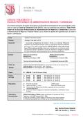 CURSO DE TITULACION 2015 - I ADMINISTRACION DE NEGOCIOS