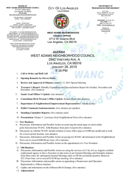 agenda west adams neighborhood council los angeles, ca 90016
