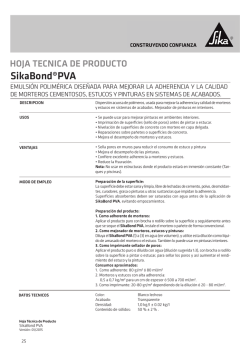 SikaBond PVA - Sika Colombia