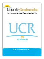 Lista de Graduandos - Oficina de Registro e Información