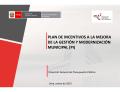 plan de incentivos a la mejora de la gestión y modernización