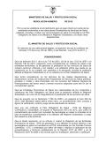 proyecto de resolucion pago directo Tecnologias en salud NO POS