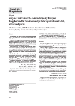 Study and classification of the abdominal adiposit