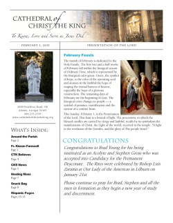 congratulations - Cathedral of Christ the King