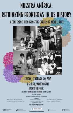 A Conference Honoring the Career of Vicki L. Ruiz