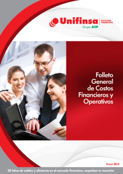 Folleto general de costos financieros y operativos