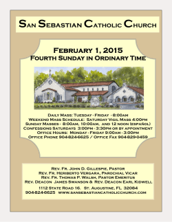 February 1, 2015 San Sebastian Catholic Church