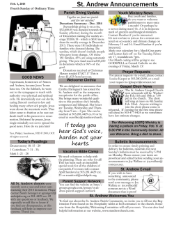 The Bulletin - Saint Andrew Church