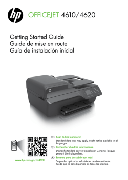 HP Officejet 4610/4620 Getting Started Guide - Americas